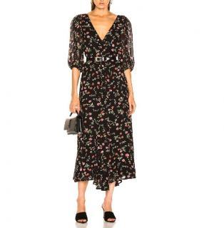 Ganni Floral Georgette Elm Dress