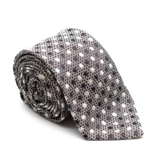 Tom Ford Brown Dotted Silk Tie
