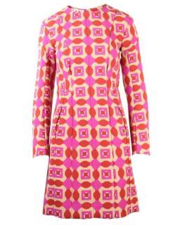 Marni Pink Geometric Printed Dress
