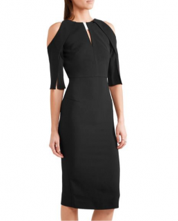 Roland Mouret Cold-shoulder Keyhole Sheath Dress