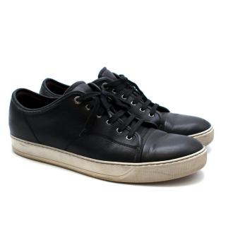 Lanvin Black Leather Low Top Trainers