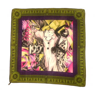 Gianni Versace Vintage Printed Silk Scarf