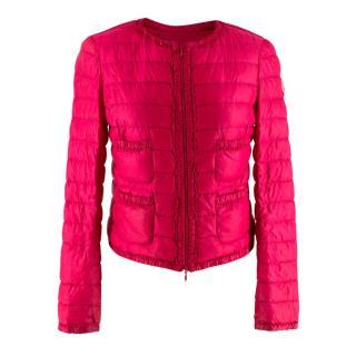 Moncler Pink Paded Funnel-Neck Jacket