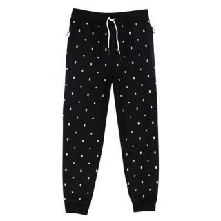 Burberry Black Cotton Gregory Star Joggers