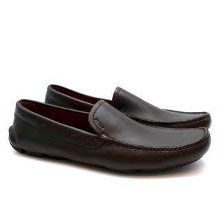 Prada Brown Leather Drivers