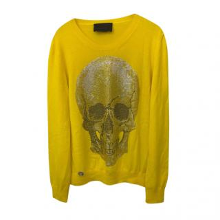 Philipp Plein Couture Embellished Skull Cashmere Jumper