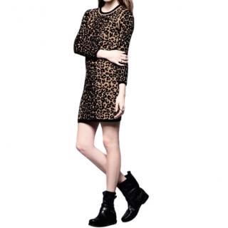ALC Stretch Knit Leopard Mini dress