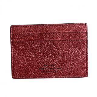 Smythson Two-Tone Metallic Panama Card Holder