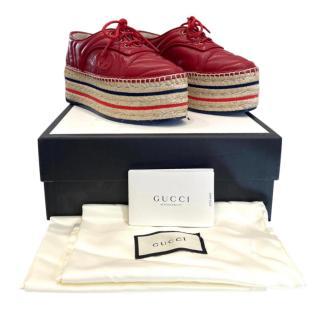 Gucci Marmont GG Platform Espadrilles