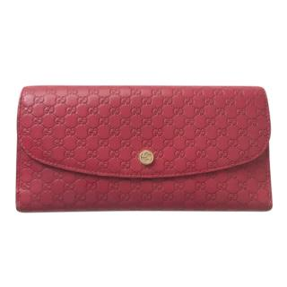 Gucci Red Microguccissima Flap Wallet