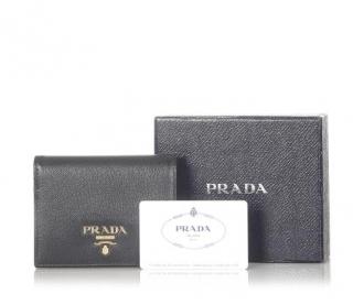 Prada Black Saffiano Bifold Wallet