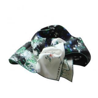 Givenchy Multicoloured Floral Print Silk Scarf