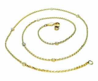 Boodles 18ct Yellow Gold Diamond Station Necklace