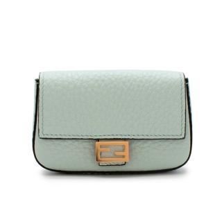 Fendi Nano Baguette Mint Leather Charm