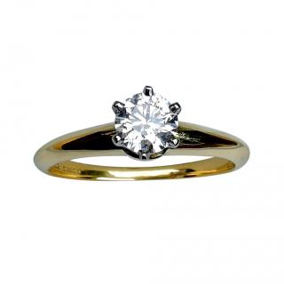 Tiffany & Co. Vintage 18ct Yellow Gold Diamond Solitaire Ring