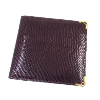 Cartier Must De Cartier Lizard Bordeaux Wallet