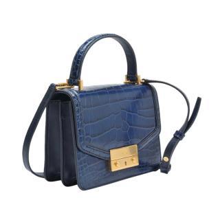 Tory Burch Navy Juliette Mini Top Handle Bag