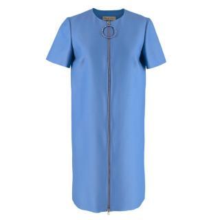 NR Emilio Pucci A Line Blue Wool&Silk Dress