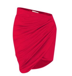 Alexandre Vauthier Velvet Asymmetric Mini Skirt