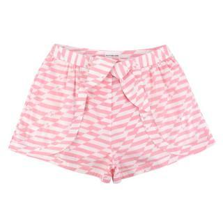Alexandra Miro Bella Pink & White Printed Cotton Shorts