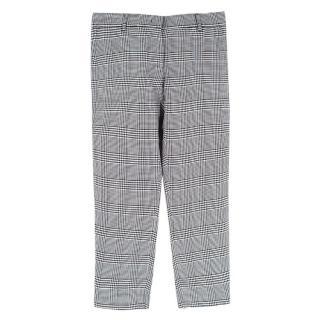 Emilio Pucci Black & White Checkered Trousers