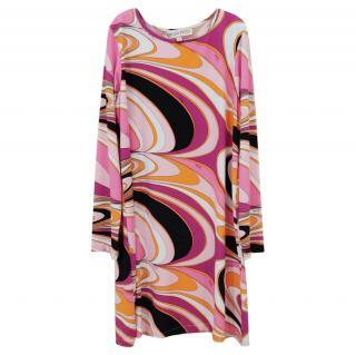 Emilio Pucci Kids 6Y Printed Jersey Dress