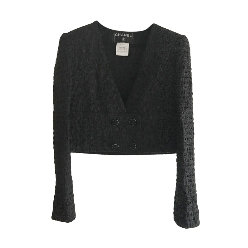 Chanel Little Black Jacket Fantasy Cropped Jacket