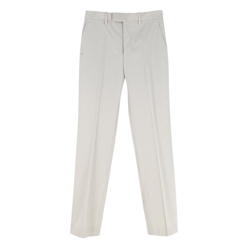 Balenciaga Cream Cotton Trousers