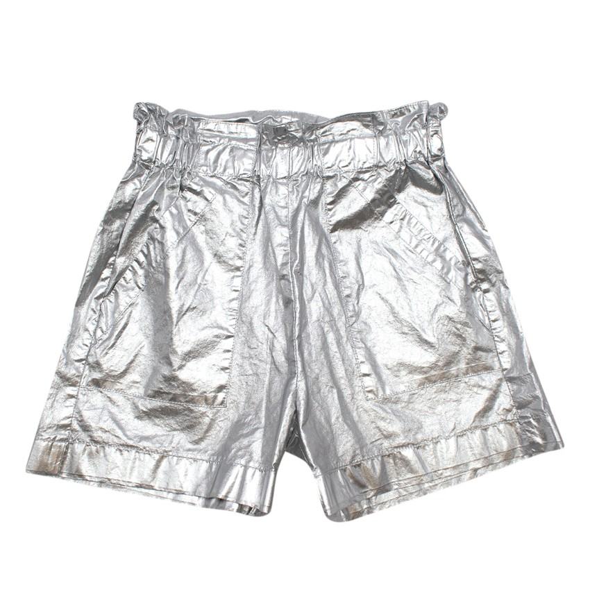 Monnalisa Kid's 12Y Metallic Silver Shorts