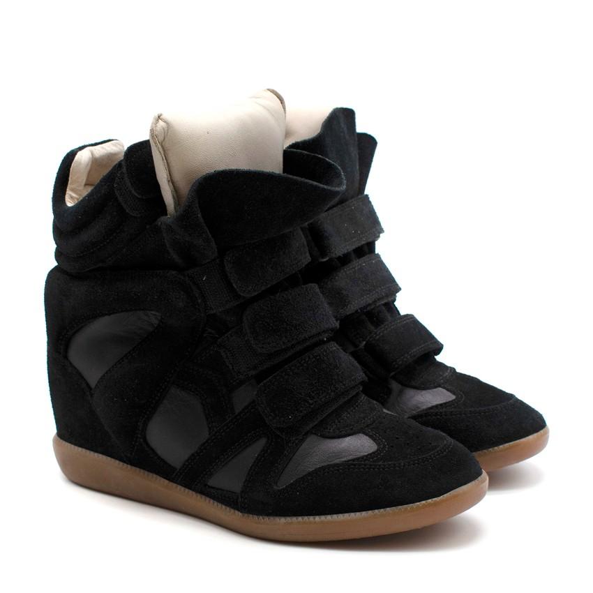 Isabel Marant Bekett Black High Top Sneakers