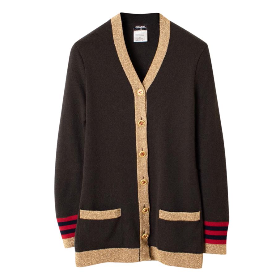 Chanel CC Star Bottins Cashmere Cardigan