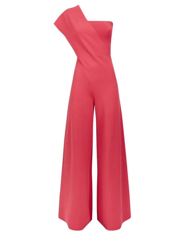 Stella McCartney One-shoulder Pink Knitted Jumpsuit