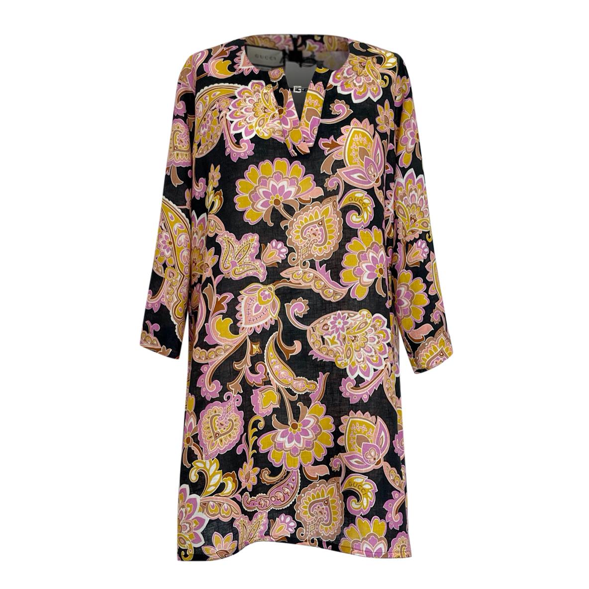 Gucci Paisley Print Linen Tunic