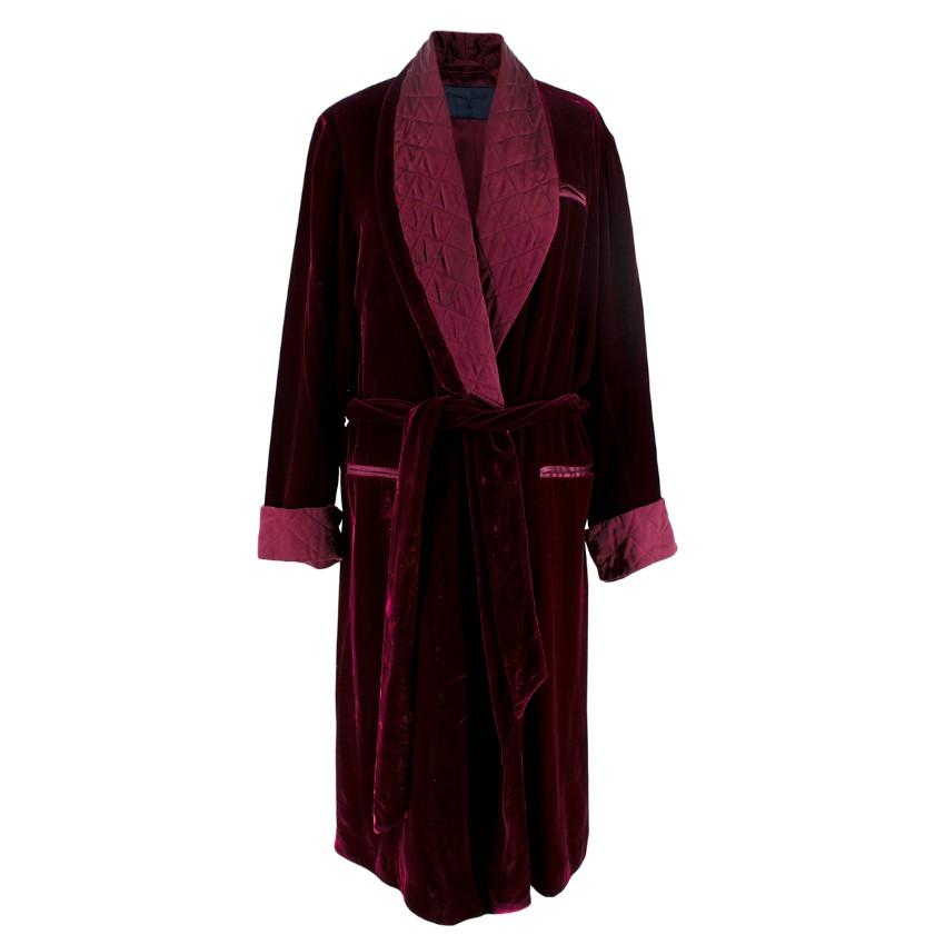 Larusmiani Velvet Burgundy Robe