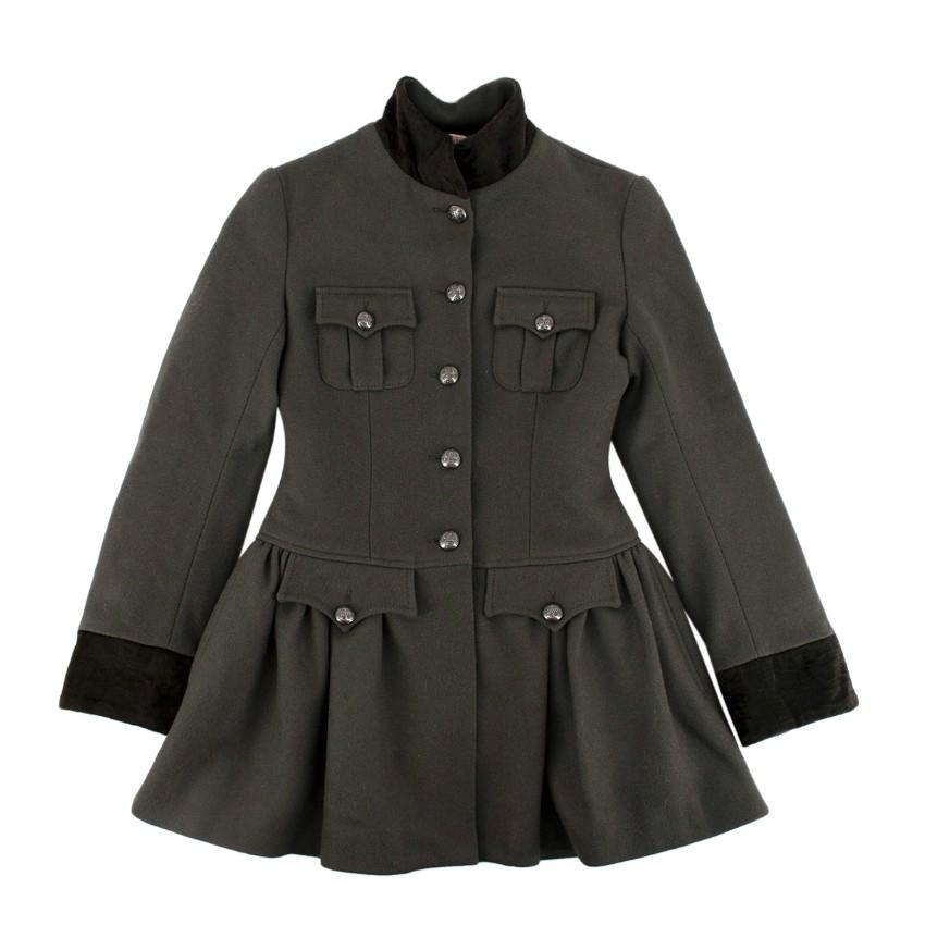 Jean Paul Gaultier Junior 12A Wool Military Jacket