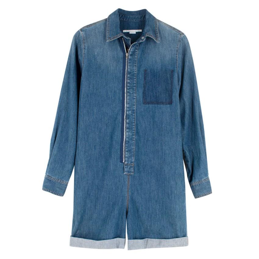 Stella McCartney Blue Denim Playsuit