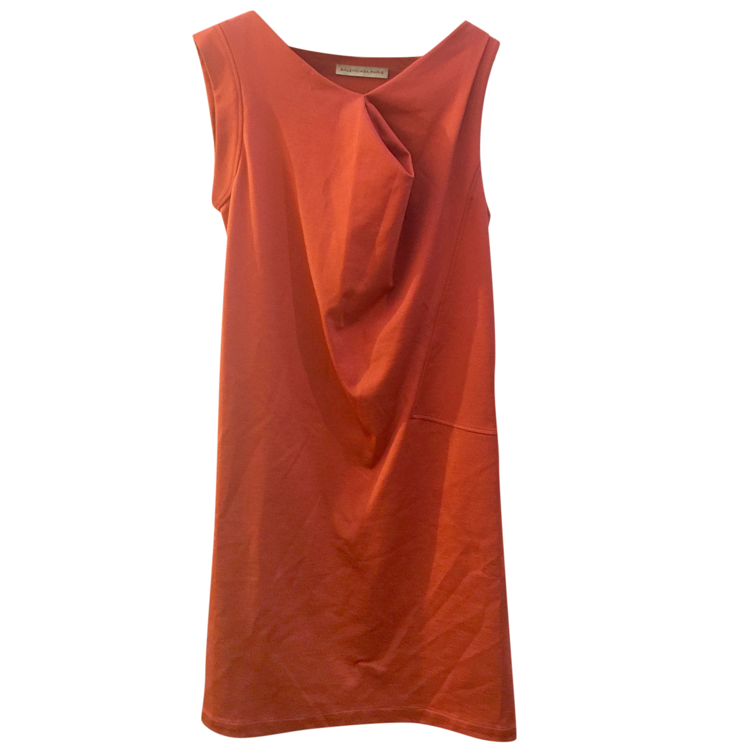 Balenciaga Stretch Crepe Asymmetric Dress