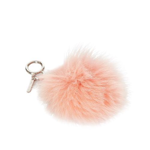 Fendi Pink Fox Fur Pom-Pom Key Chain