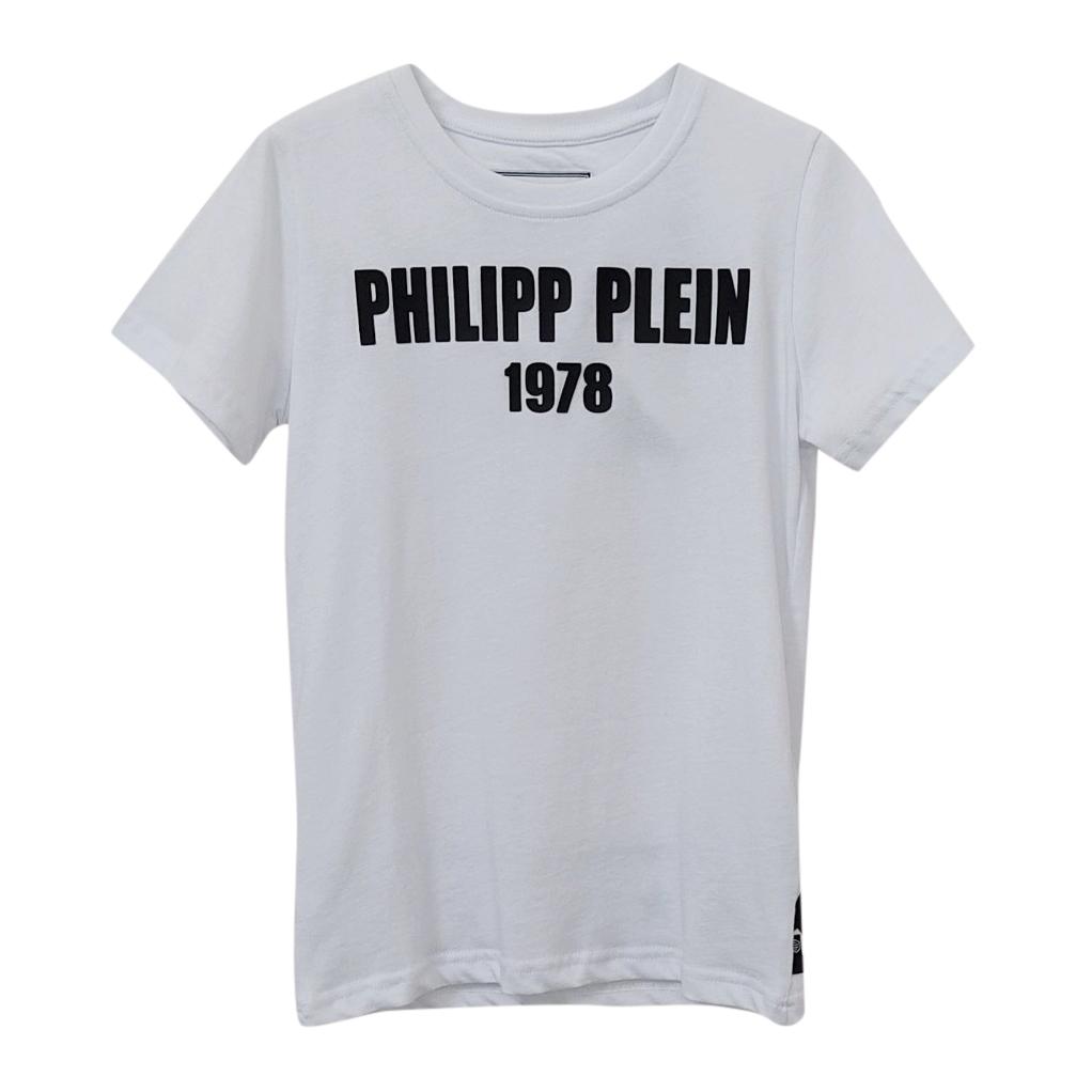 Philipp Plein Kids 10-11Y Logo Print T-Shirt