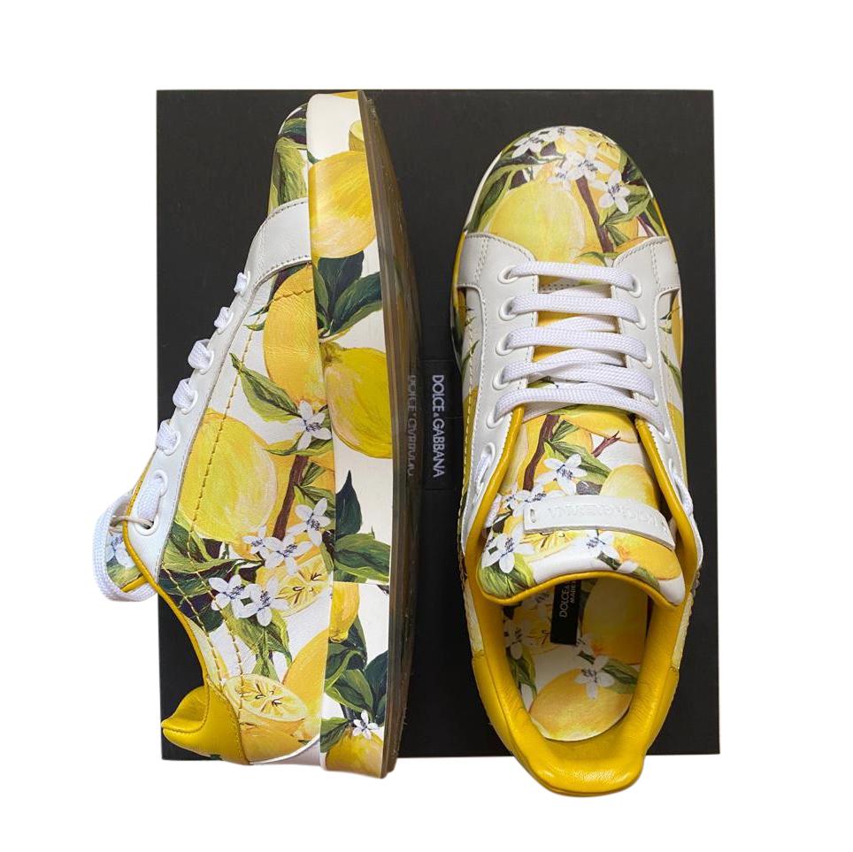 Dolce & Gabbana Lemon Print Sicily Sneakers