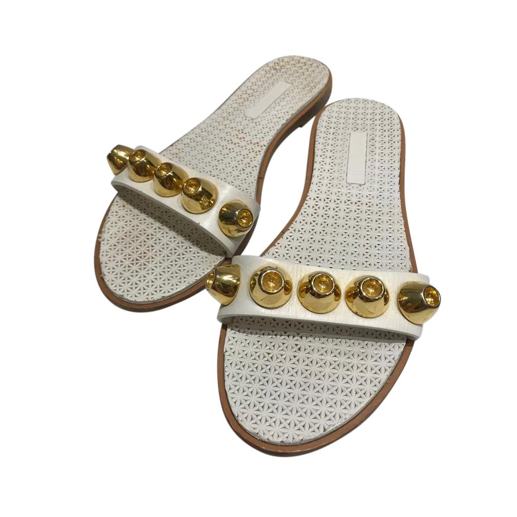 Miu MIu Studded Flat Slides