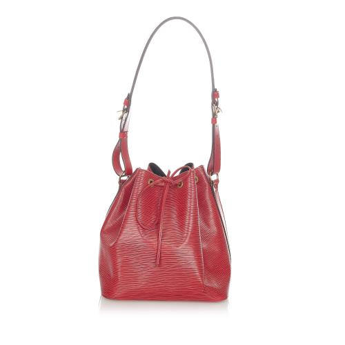 Louis Vuitton Red Epi Leather Petit Noe Shoulder Bag