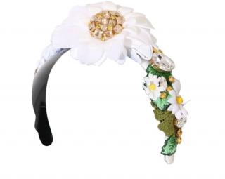 Dolce & Gabbana Margherite Floral Applique Hair Band