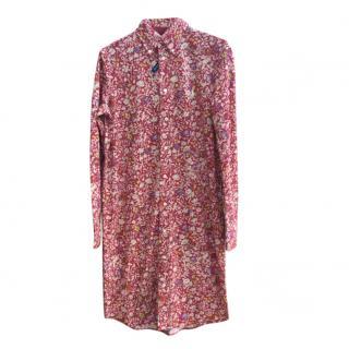 Ralph Lauren Floral Oxford Knit Shirt Dress