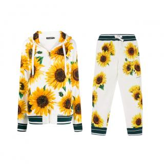 Dolce & Gabbana Sunflower Print Lounge Set