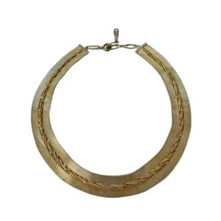 Dior Gold Plated Vintage Collar Necklace