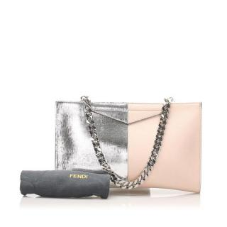 Fendi Bi-Colour Leather Pouch Shoulder Bag