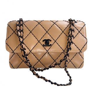 Chanel Vintage Nude Wild Stitch Flap Bag