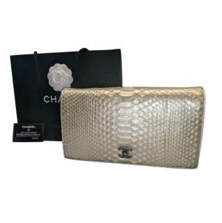 Chanel Gold Python Wallet on Chain