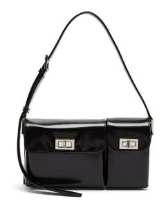 By Far Billy patent-leather shoulder bag